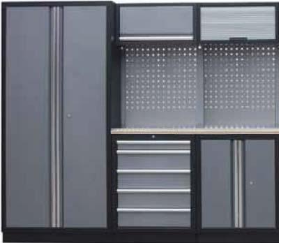 Sestava dílenského nábytku Procarosa PROFI S-I Pracovní deska: dřevěná, Hmotnost: 203 kg