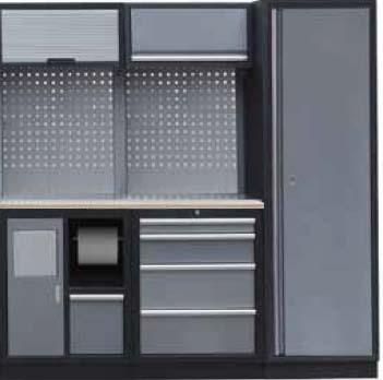 Sestava dílenského nábytku Procarosa PROFI S-II Pracovní deska: dřevěná