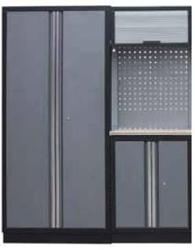 Sestava dílenského nábytku Procarosa PROFI XS-IV Pracovní deska: dřevěná, Hmotnost: 131 kg