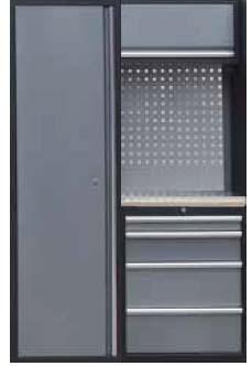 Sestava dílenského nábytku Procarosa PROFI XS-VI Pracovní deska: dřevěná, Hmotnost: 124 kg