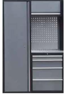Sestava dílenského nábytku Procarosa PROFI XS-VI Pracovní deska: nerezová, Hmotnost: 128 k