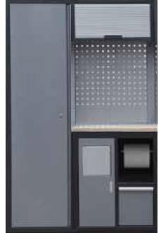 Sestava dílenského nábytku Procarosa PROFI XS-VII Pracovní deska: dřevěná, Hmotnost: 117 k