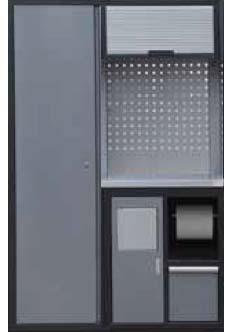 Sestava dílenského nábytku Procarosa PROFI XS-VII Pracovní deska: nerezová, Hmotnost: 122