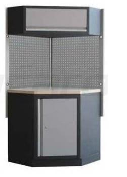 Rohová sestava dílenského nábytku Procarosa PROFI XS Pracovní deska: dřevěná, Hmotnost: 94