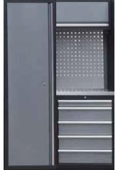 Sestava dílenského nábytku Procarosa PROFI XS-I Pracovní deska: nerezová, Hmotnost: 134 kg
