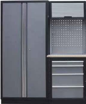 Sestava dílenského nábytku Procarosa PROFI XS-II Pracovní deska: dřevěná, Hmotnost: 146 kg