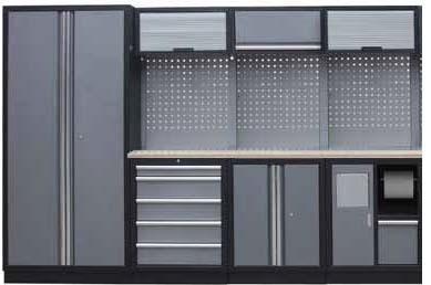 Sestava dílenského nábytku Procarosa PROFI M-II Pracovní deska: dřevěná, Hmotnost: 263 kg