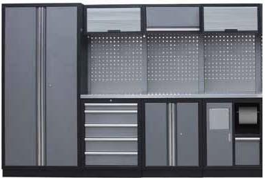 Sestava dílenského nábytku Procarosa PROFI M-II Pracovní deska: nerezová, Hmotnost: 275 kg