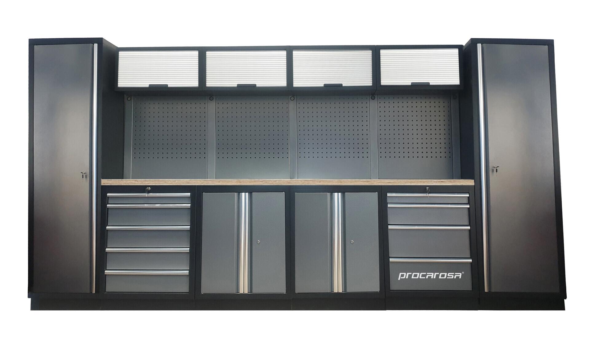 Sestava dílenského nábytku Procarosa PROFESSIONAL L-1 Pracovní deska: dřevěná, Hmotnost: 3