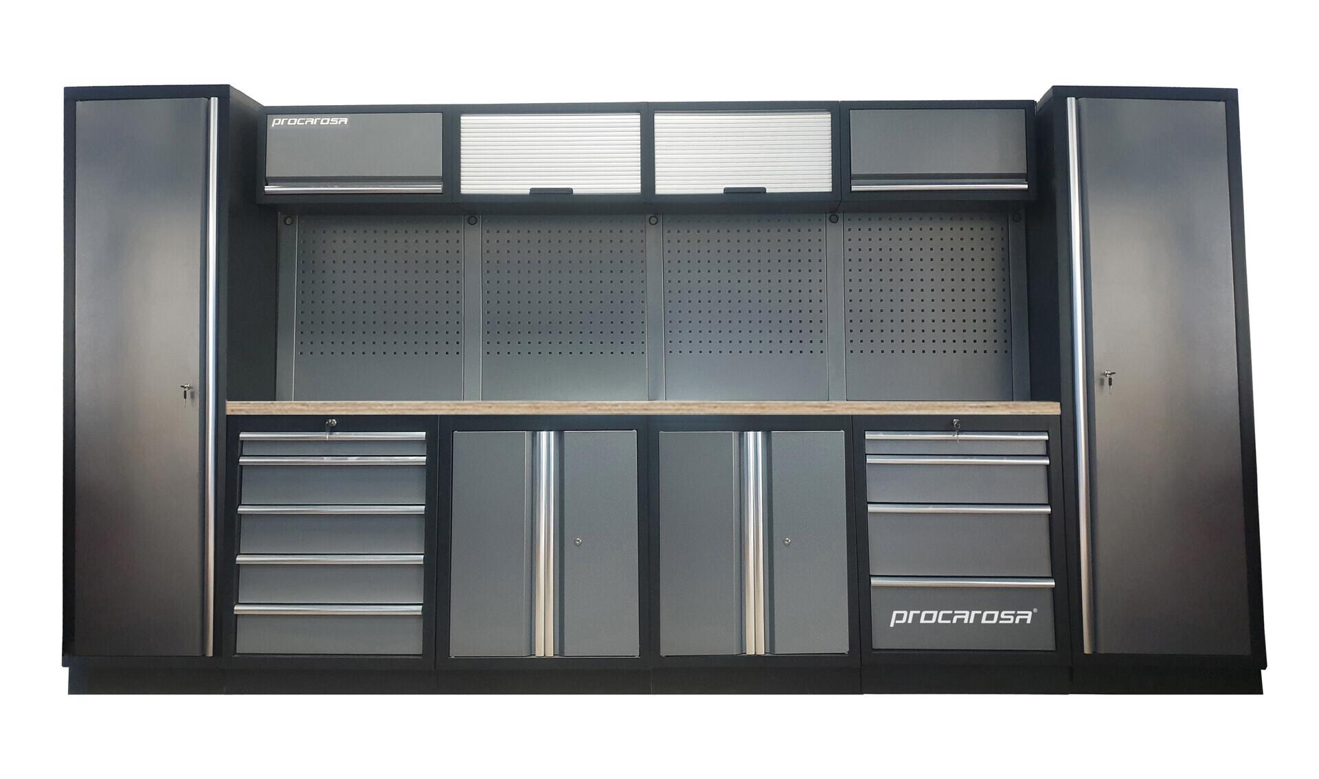 Sestava dílenského nábytku Procarosa PROFESSIONAL L-2 Pracovní deska: dřevěná, Hmotnost: 3