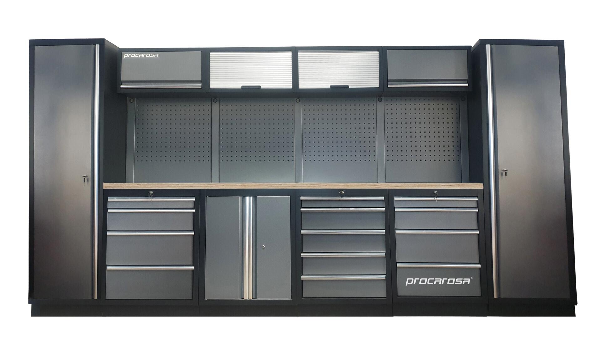 Sestava dílenského nábytku Procarosa PROFESSIONAL L-4 Pracovní deska: dřevěná, Hmotnost: 3