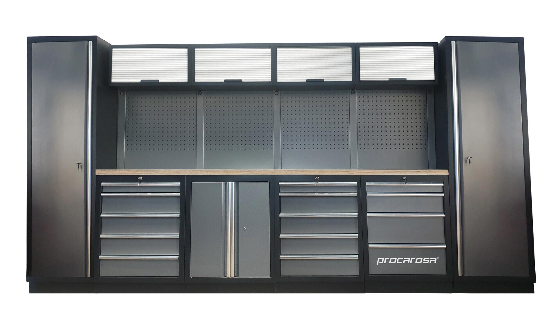 Sestava dílenského nábytku Procarosa PROFESSIONAL L-5 Pracovní deska: dřevěná, Hmotnost: 3