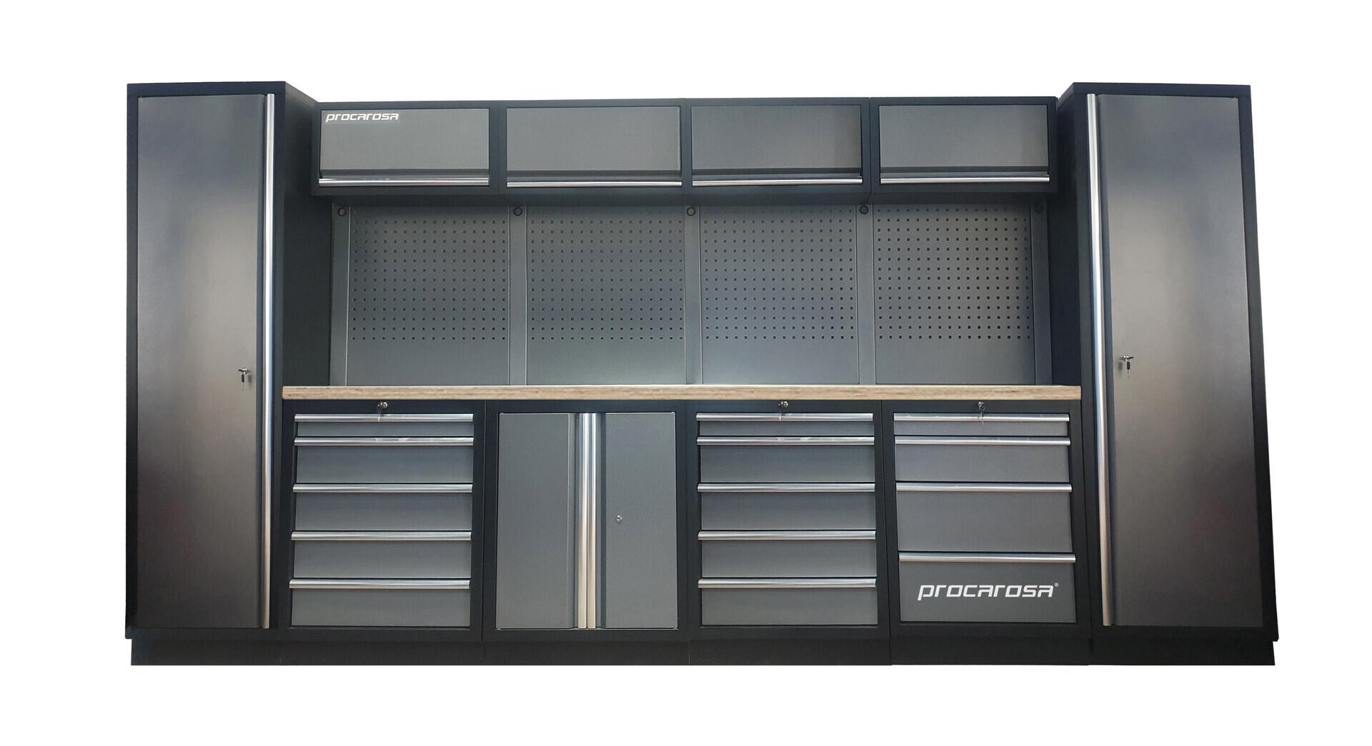 Sestava dílenského nábytku Procarosa PROFESSIONAL L-6 Pracovní deska: dřevěná, Hmotnost: 3