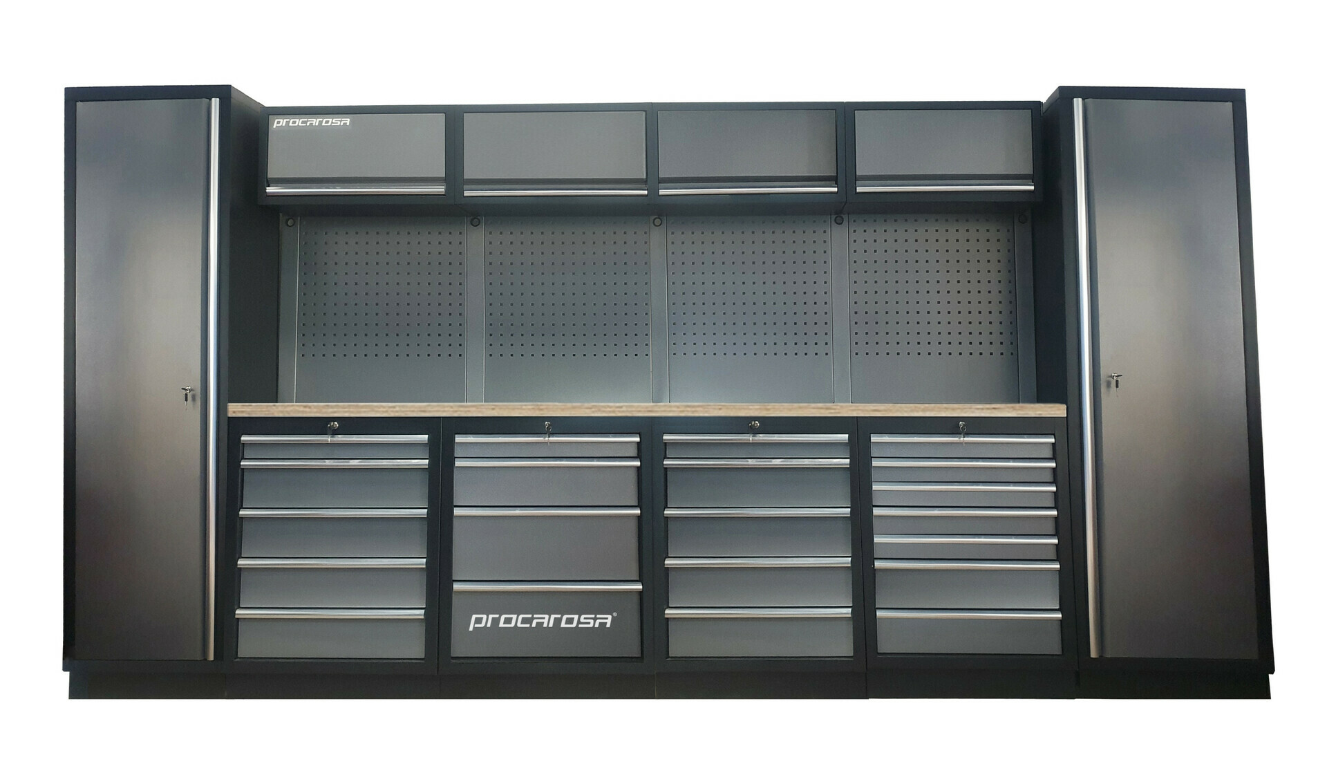 Sestava dílenského nábytku Procarosa PROFESSIONAL L-8 Pracovní deska: dřevěná, Hmotnost: 4