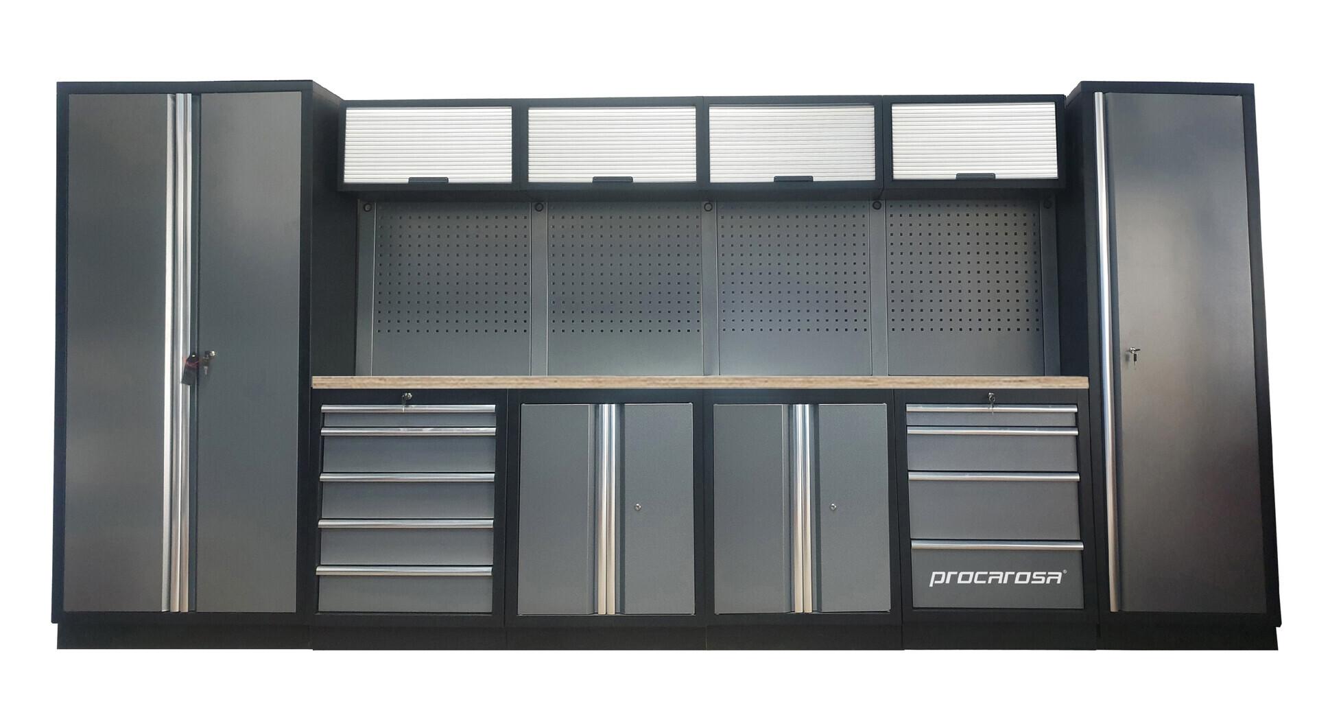 Sestava dílenského nábytku Procarosa PROFESSIONAL XL-1 Pracovní deska: dřevěná, Hmotnost: