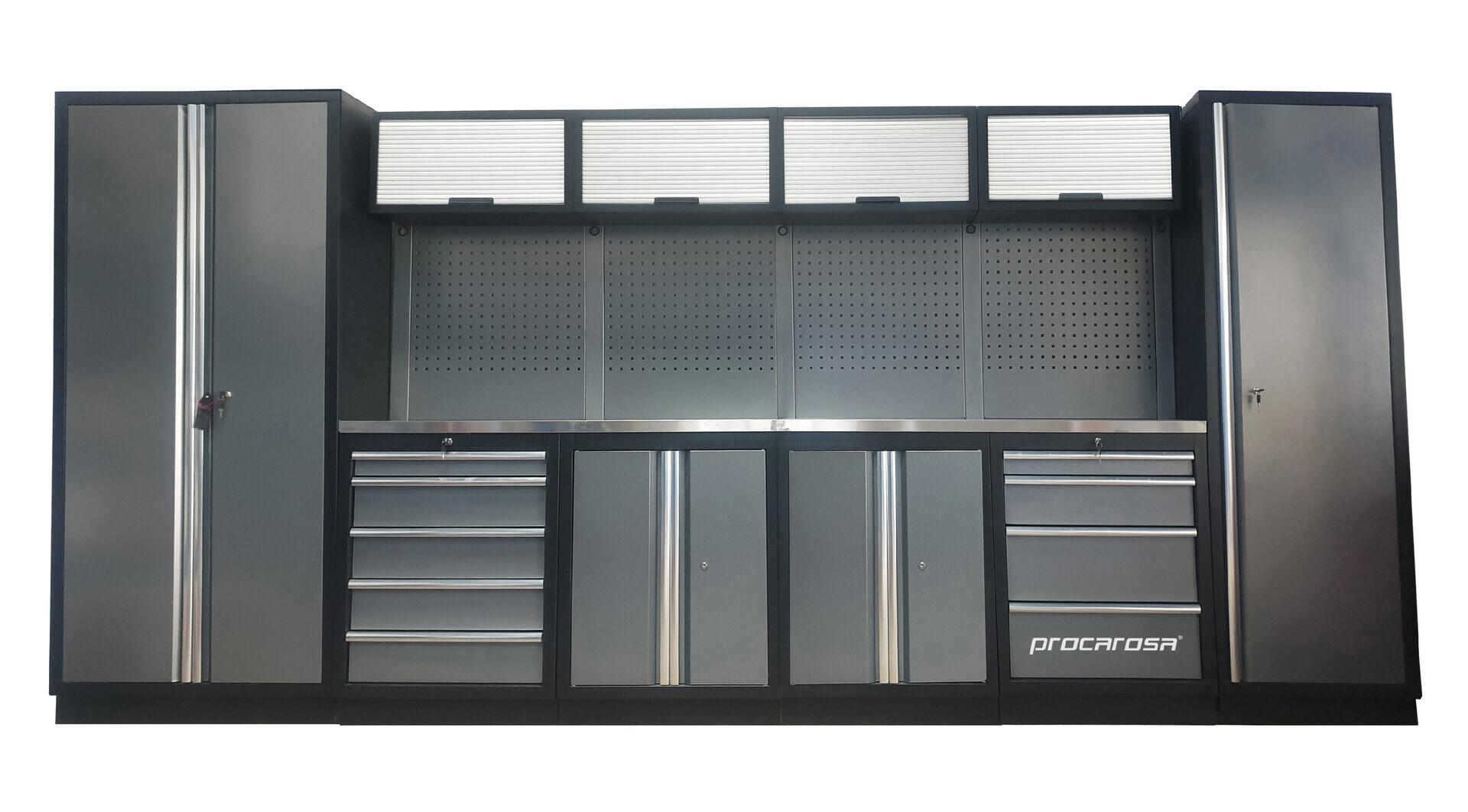 Sestava dílenského nábytku Procarosa PROFESSIONAL XL-1 Pracovní deska: nerezová, Hmotnost: