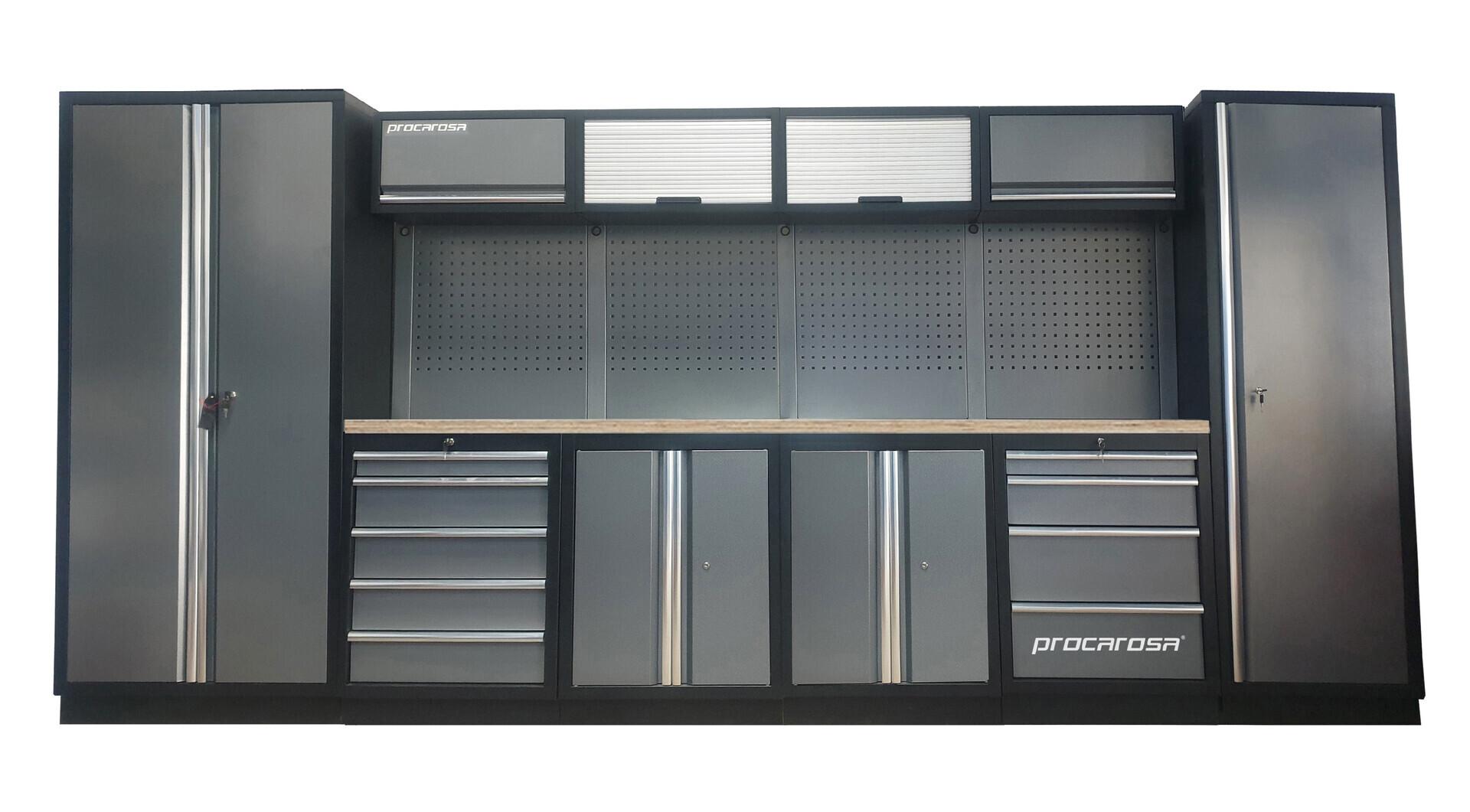 Sestava dílenského nábytku Procarosa PROFESSIONAL XL-2 Pracovní deska: dřevěná, Hmotnost: