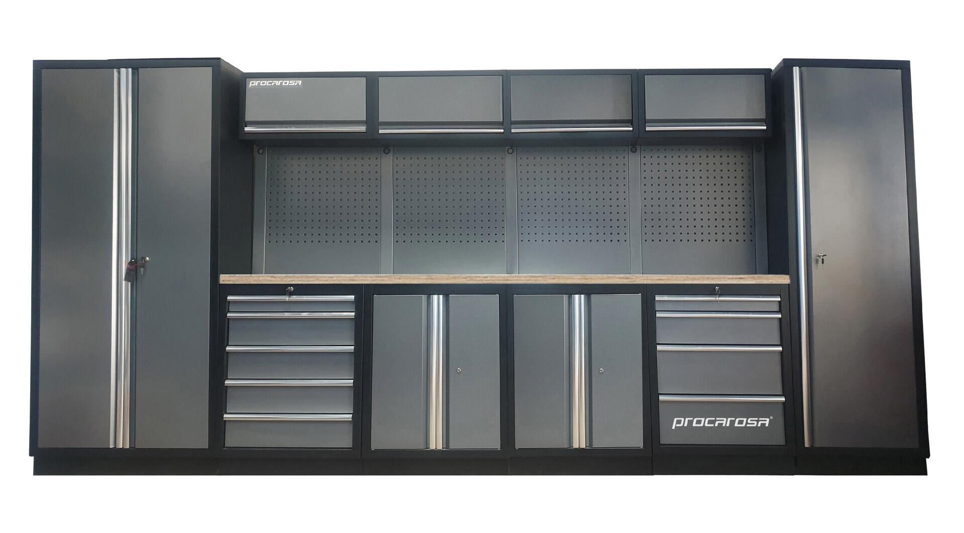 Sestava dílenského nábytku Procarosa PROFESSIONAL XL-3 Pracovní deska: dřevěná, Hmotnost:
