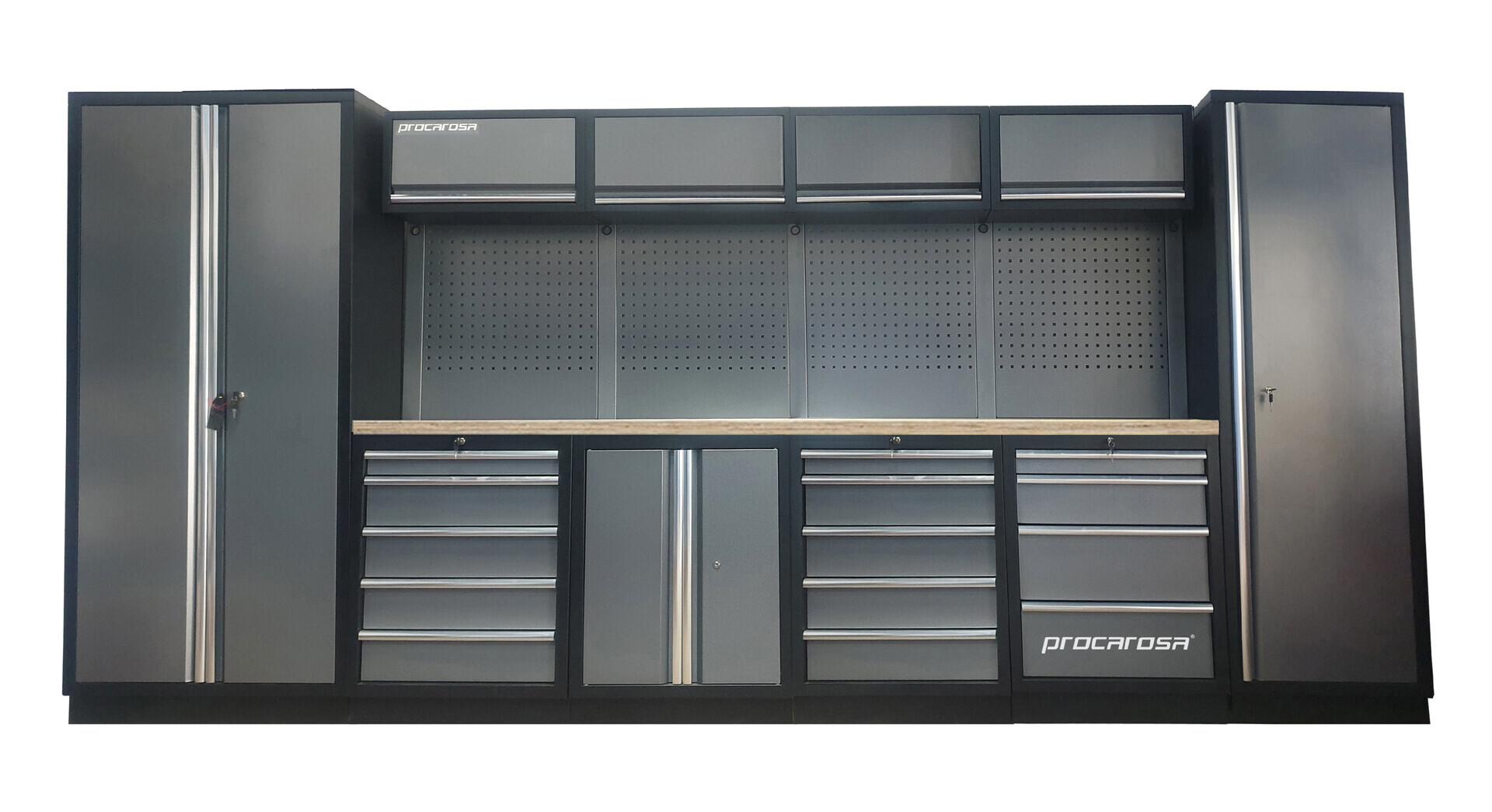 Sestava dílenského nábytku Procarosa PROFESSIONAL XL-6 Pracovní deska: dřevěná, Hmotnost: