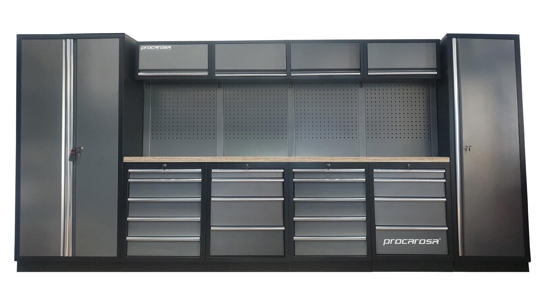 Sestava dílenského nábytku Procarosa PROFESSIONAL XL-7 Pracovní deska: dřevěná, Hmotnost: