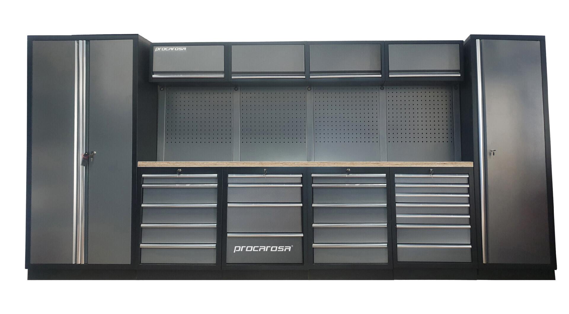 Sestava dílenského nábytku Procarosa PROFESSIONAL XL-8 Pracovní deska: dřevěná, Hmotnost: