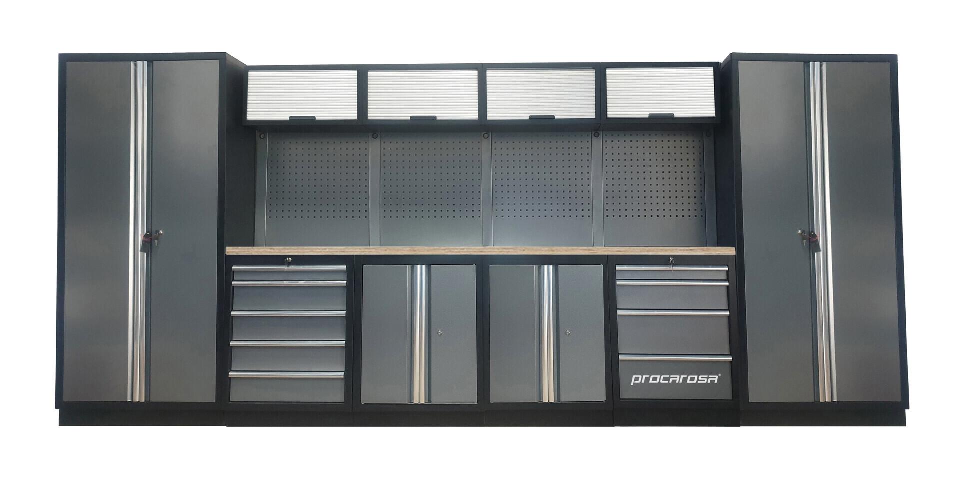 Sestava dílenského nábytku Procarosa PROFESSIONAL XXL-1 Pracovní deska: dřevěná, Hmotnost: