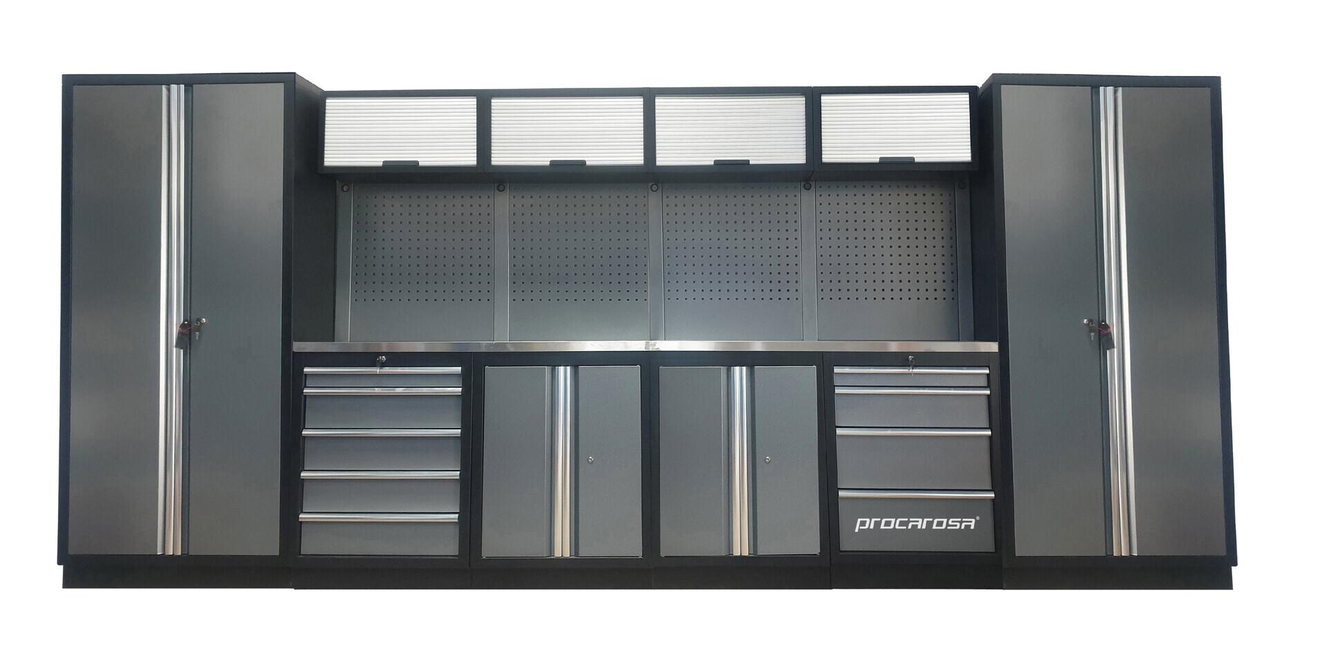 Sestava dílenského nábytku Procarosa PROFESSIONAL XXL-1 Pracovní deska: nerezová, Hmotnost