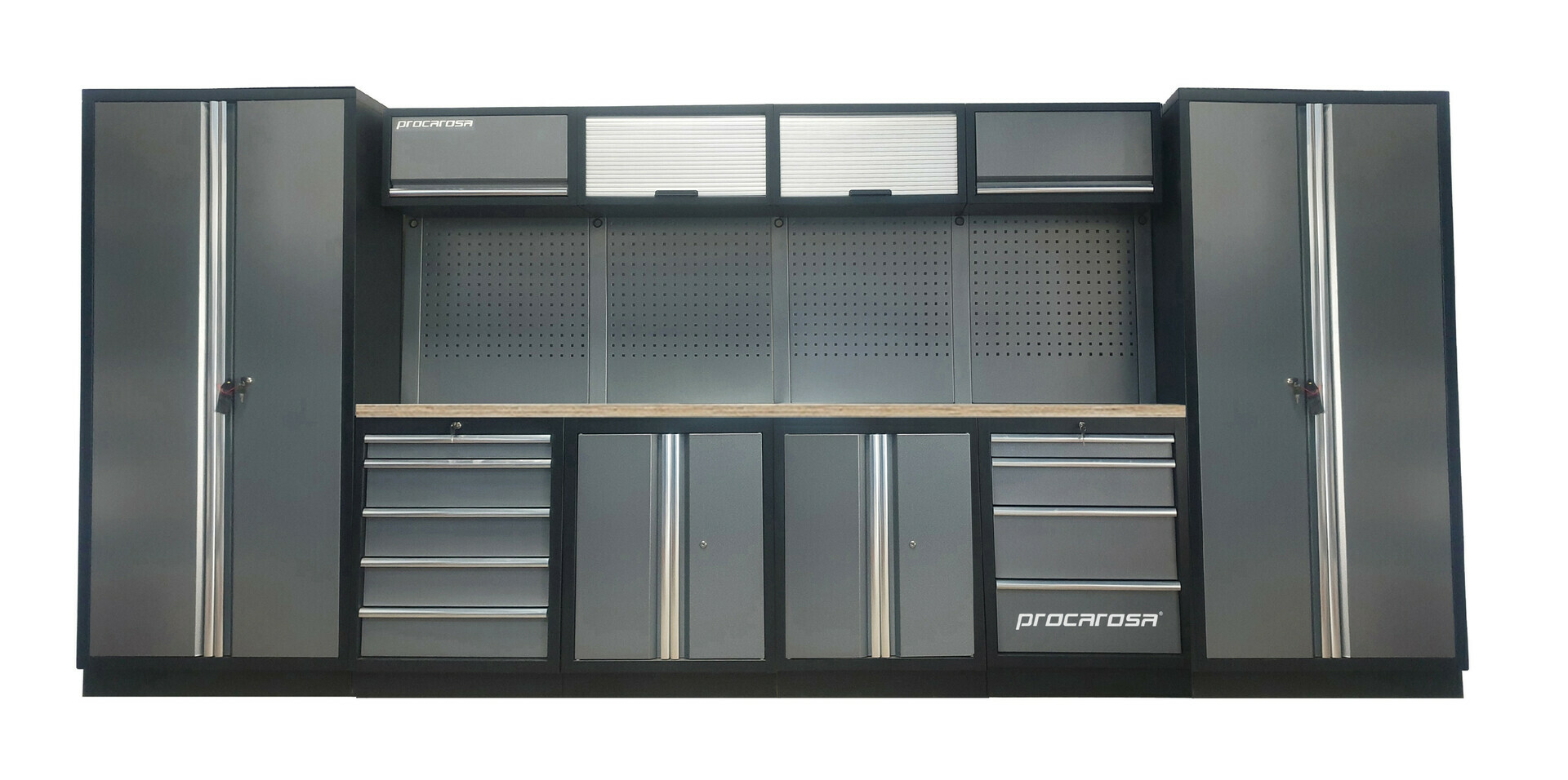 Sestava dílenského nábytku Procarosa PROFESSIONAL XXL-2 Pracovní deska: dřevěná, Hmotnost: