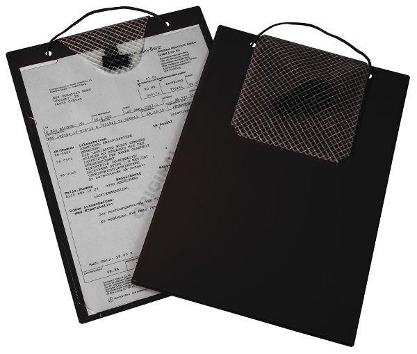Desky na dokumenty A4 s kapsou, černé - Turbo 9015-00337