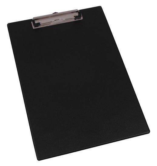 Podložka A4 na dokumenty, s klipem a háčkem, černá