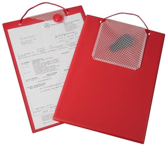 Desky na dokumenty A4 s magnetickým uzávěrem, červené - Magnetic 9219-00140