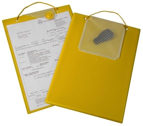 Desky na dokumenty A4 s magnetickým uzávěrem, žluté - Magnetic 9219-00671