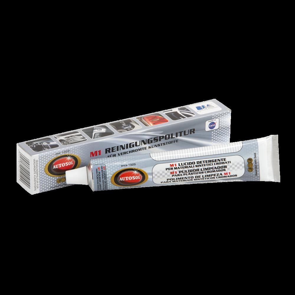 M1 Cleaning Polish for Plastic Chrome čisticí a lešticí pasta na pochromované plasty 75 ml