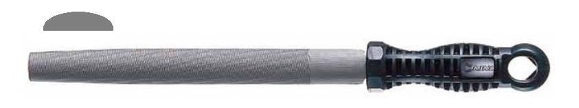 Pilník dílenský úsečový 20x6 PZP200/1 - AJAX