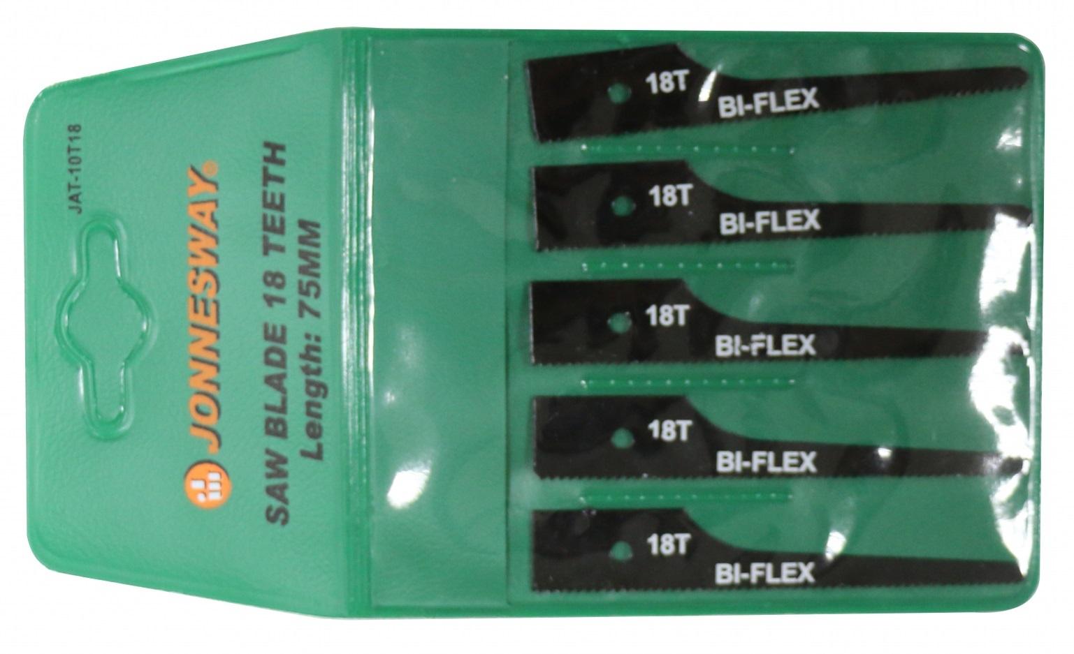 Pilové plátky, 18 zubů/palec, 5 ks, pro pneumatickou nízkovibrační pilu JONNESWAY JAT-1011