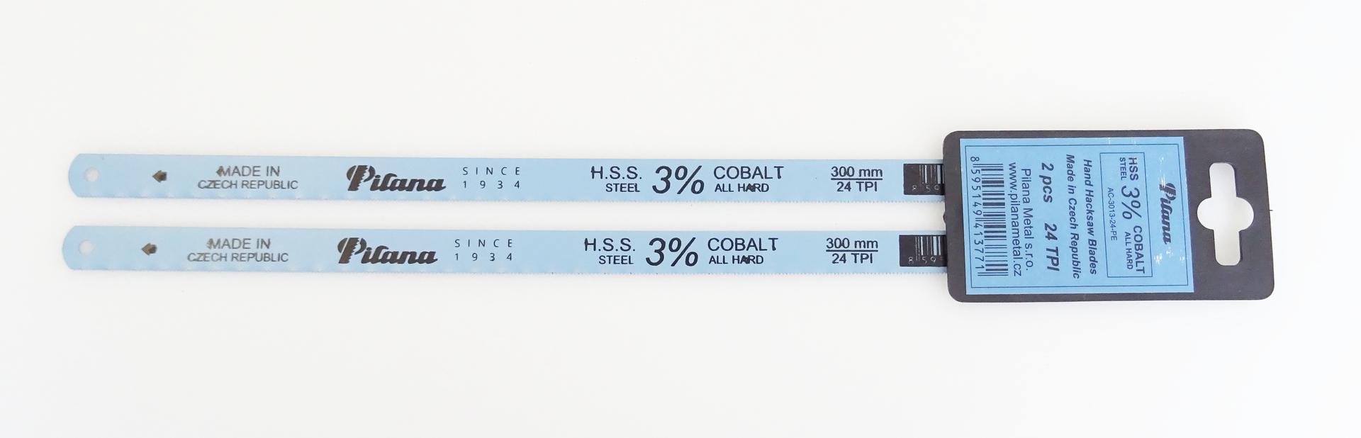 Pilový list - plátek HSS all hard cobalt 300 mm, balení 2 kusy