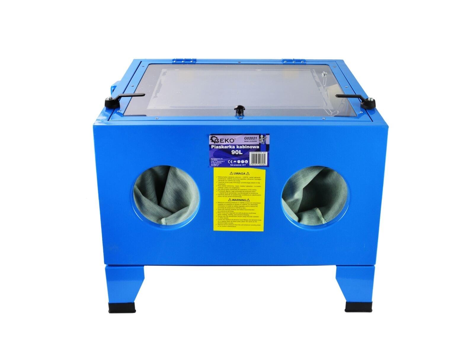 Pískovací box, pískovačka, objem 90 litrů, s příslušenstvím