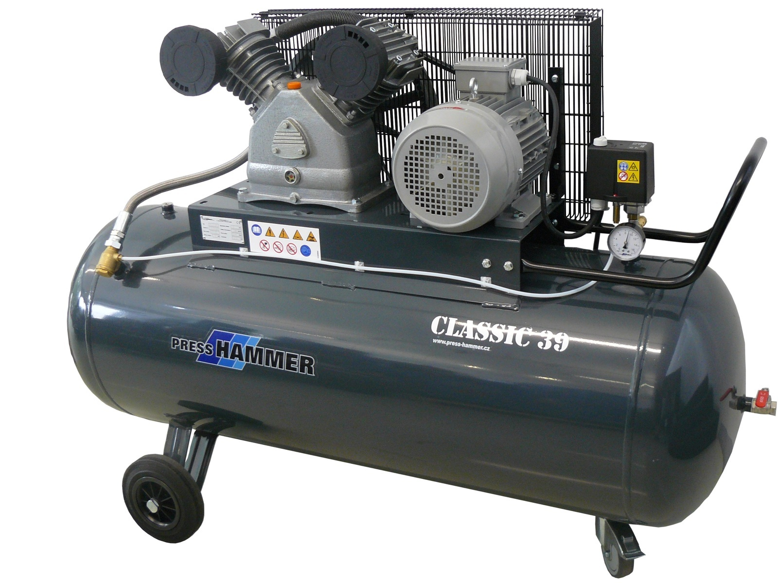 Pístový kompresor 270l 4kw- PRESS-HAMMER Classic 39/270