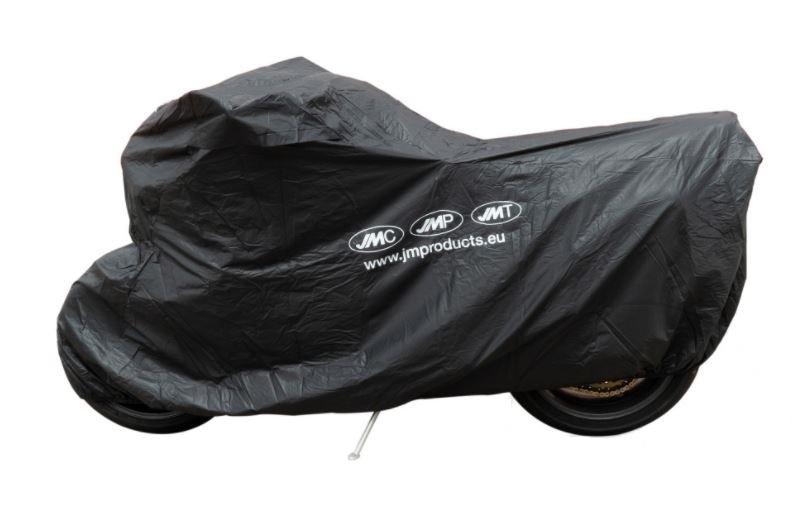 Krycí plachta na motorku XL 275 x 108 x 104 cm Premium, venkovní nepromokavá, černá