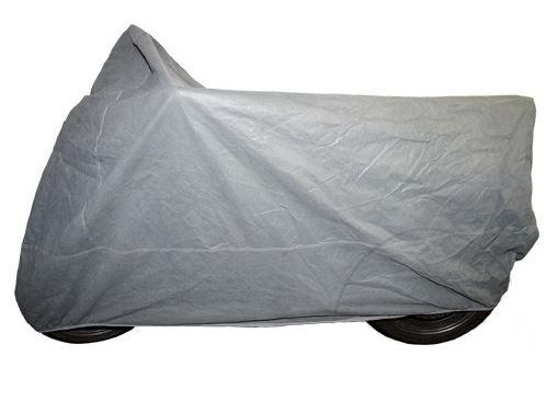 Krycí plachta na motorku XL 246 x 104 x 127 cm, vnitřní, šedá