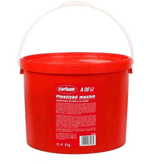 Plastické mazivo A 00 LI, pro centrální mazací systémy, kyblík 8 kg - Carlson