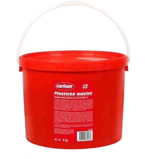 Plastické mazivo G3, grafitové, pro vysoké namáhání, kyblík 8 kg - Carlson