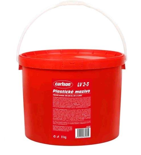 Plastické mazivo LV 2-3, pro dlouhodobé náplně, kyblík 8 kg - Carlson