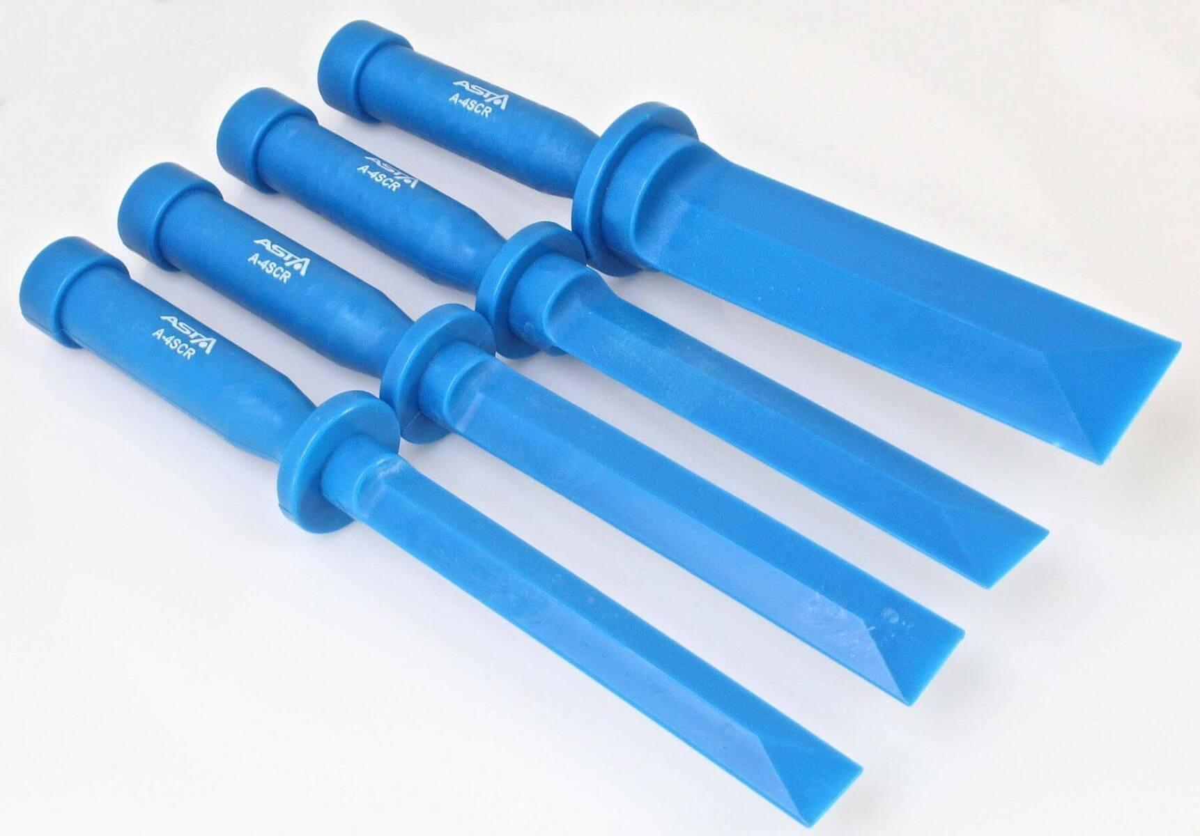 Plastové škrabky, šábry, šířka 19 - 32 mm,  sada 4 ks - ASTA