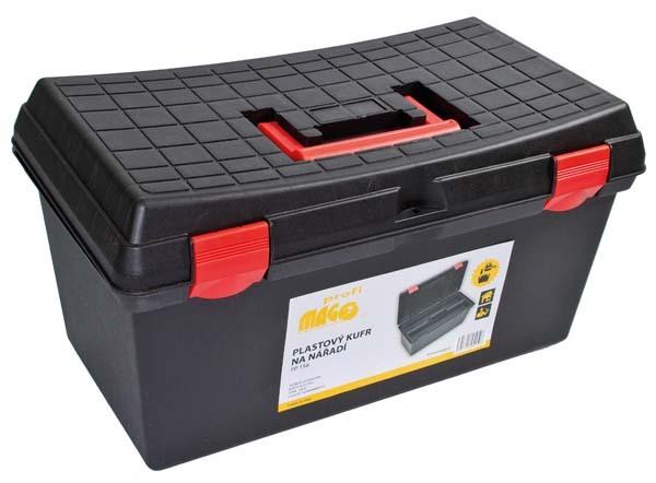 Plastový kufr na nářadí 530 x 290 x 270 mm, nosnost 120 kg - MAGG PP158