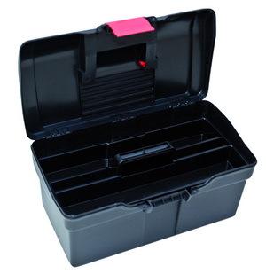 Plastový kufr na nářadí 514 x 280 x 260 mm, 1 přihrádka a 2 zásobníky