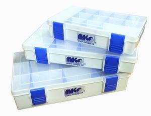 Plastový organizér 205 x 124 x 35 mm, s vyjímatelnými přepážkami - MAGG SBOX-M