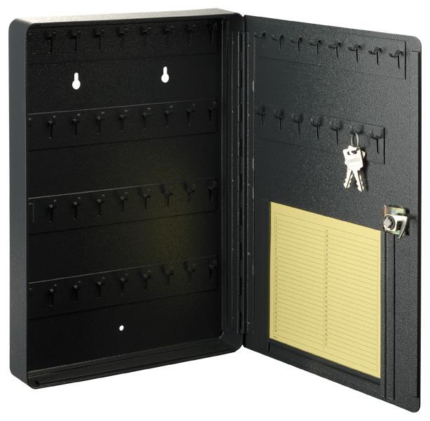 Plechová schránka na klíče 34 x 24 x 4 cm, 51 háčků, uzamykatelná - MARS 6315