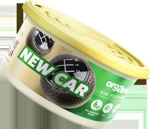 Vůně do auta Organic plechovka s víčkem New Car 42 g