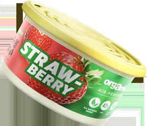 Vůně do auta Organic plechovka s víčkem Strawberry 42 g
